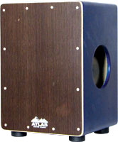 Atlas Compact Cajon Dark coloured fully adjustable front plate and tuneable snares