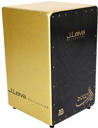 Leiva Zoco Anniversary Cajon Gold sparkle finish, 100% Siberian 3mm Spruce panel