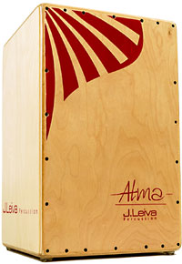 Leiva Cajon - Alma Red w. bag 100% Russian 3mm Siberian Spruce Tapas