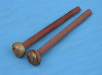 Kambala Balaphon Sticks, Pair Hard wood with rubber wound playing ends.