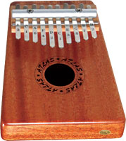 Atlas 10 Note Kalimba Solid mahogany body with sound hole and 2