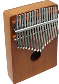 Atlas Wooden Mbira, 17 Note Thumb piano made from Red Cedar with large soundbox with two wah holes