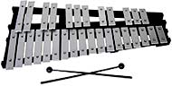 Atlas 30 Note Glockenspiel 2 1/2 octaves from G to C. Aluminium bars on a black wooden folding frame