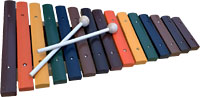 Atlas 2 Octave Xylophone Coloured wooden Xylophone with beaters