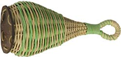 Atlas Calabash, Cane Shaker Small straw shaker with a unique design