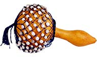 Bucara Shekere, Gourd Shaker With beads, similar to cabasa afuche