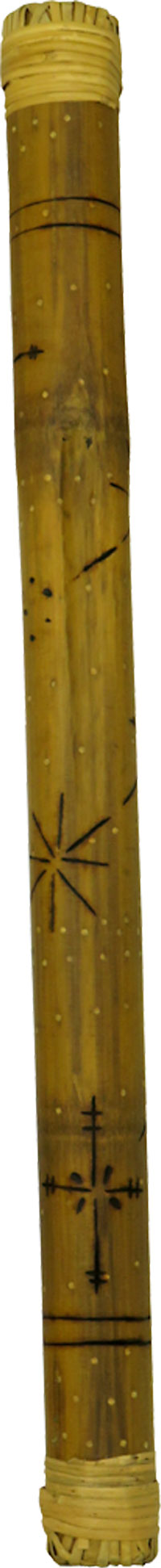 Atlas Bamboo Rainstick, 75cm Long Pokerwork designs. Approx 75cm long and 5cm diameter