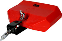 Atlas Large Plastic Tone Block, Red Medium pitch red mountable tone block.15cm long.