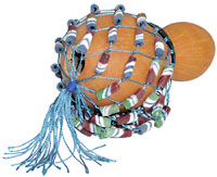Kambala Small Shekere 9cm With beads, similar to cabasa afuche