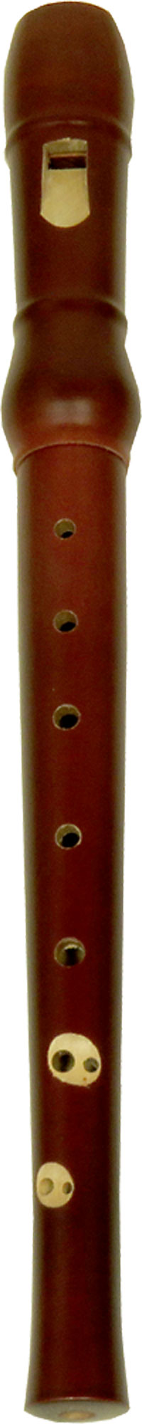 Meinel Descant Recorder, Maple Wood Maple brown finish wooden Recorder in 2 parts, in cloth bag