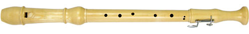 Meinel Tenor Recorder, Maple Wood 1 key Natural maplewood finish in 3 parts, in cloth bag with joint grease & mop