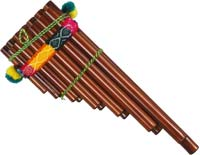 Atlas Peruvian Zampona Panpipe Double 13 note, brown bamboo
