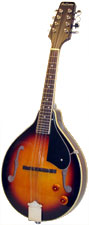 Ashbury A Style Electro Mandolin, S/B Electro, spruce top, mahogany body, F-hole, bridge P/U, tone & vol..