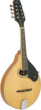 Ashbury A Style Mandolin, Natural Solid spruce top, maple body with oval soundhole. Natural finish.