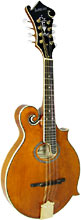Ashbury F Style Mandolin, Oval Soundhol F4 Style, Scroll body with oval soundhole. Solid spruce top, solid maple body, .