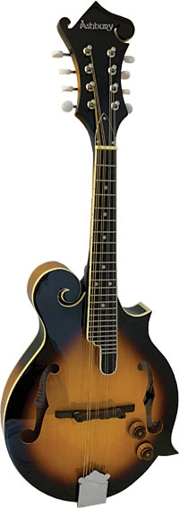 Ashbury Electro F Style Mandolin, S/B Electro Acoustic Mandolin with tone and volume controls, Sunburst finish.