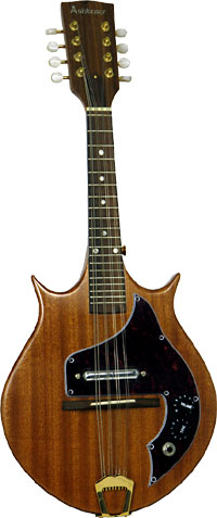 Ashbury Solid Body Electric Mandolin Double cutaway style body with single coil pick-up with tone and volume controls