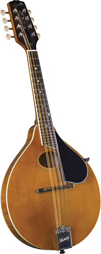 Kentucky A Style Mandolin, Amber Finish A style with oval sound hole. Solid carved German spruce top