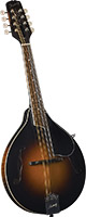 Kentucky A Style Mandolin, Sunburst A style with F sound hole. Solid carved German spruce top