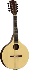 Ashbury Rathlin Walnut Mandolin Solid spruce top with walnut back and sides. Ashbury onion shaped body.