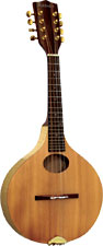 Ashbury Rathlin Ash Mandolin Solid spruce top with flamed ash back and sides. Ashbury onion shaped body.