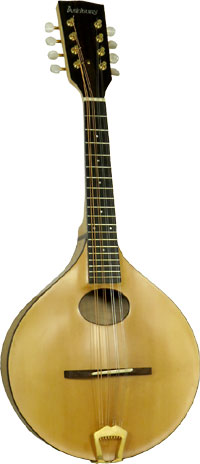 Ashbury Carved A Style Mandolin Solid carved spruce top with solid carved curly maple back