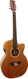 Ashbury Octave Mandola, Guitar Body Octave mandola neck with cutaway guitar body. Solid cedar top.