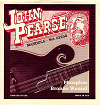John Pearse Tenor Mandola Strings, Phos Phosphor bronze wound, loop ended from the legendary Breezy Ridge company