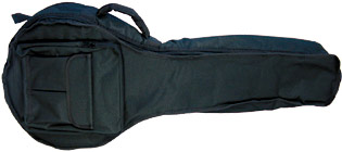 Viking Deluxe Octave Mandola Bag Tough 600D black nylon outer with 20mm padding. Plush red lining.