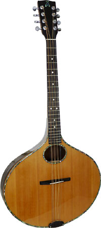 Ashbury Iona Octave Mandola Onion shaped body. Solid spruce top, solid Senna Siamea body