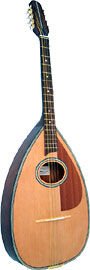 Blue Moon Irish Bouzouki, Pear Shape Body Big pear shaped body, oval soundhole, natural finish with inlay.