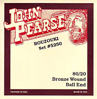 John Pearse Bouzouki Set, 80/20 Bronze Bronze ball end, Ideal for Fylde bouzoukis