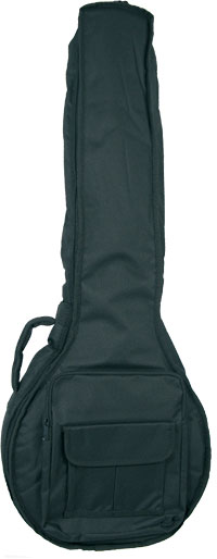 Viking Deluxe Irish Bouzouki Bag Tough 600D black nylon outer with 20mm padding. Plush red lining.