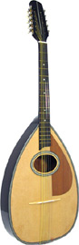 Blue Moon Cittern, Pear Shaped Body, 10s Big pear shaped body, oval soundhole, natural finish, 650mm scale.Big Warm Sound