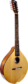 Ashbury Celtic Cittern, 10 string Solid Alaskan Sitka Spruce top, solid sapele body, designed by Phil Davidson.