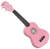 Blue Moon Coloured Soprano Uke, Pink Good quality, very playable Uke. Lindenwood fingerboard and bridge. Nickel frets