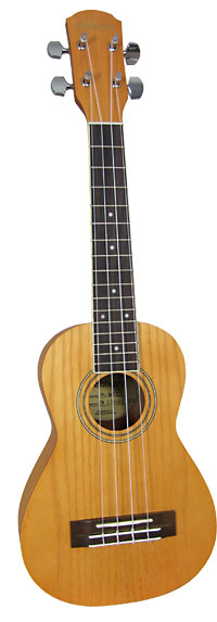 Ashbury Concert Ukulele, Ash Body Ash top, back and sides, bound fingerboard, geared tuners. Aquila strings.