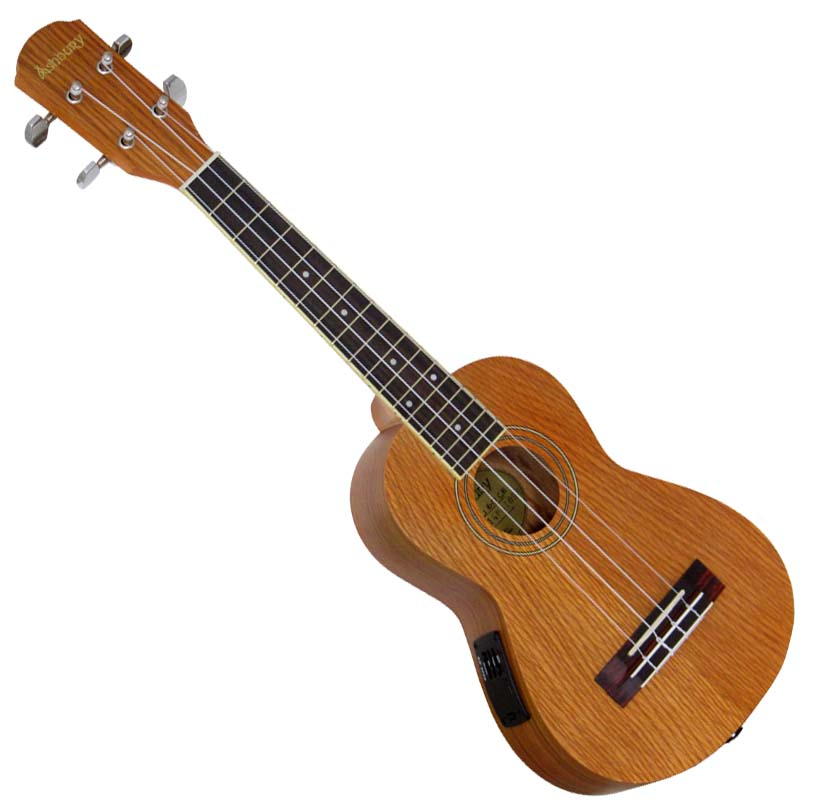 Ashbury Concert Ukulele, Electro Passive undersaddle pick up, ash top, back and sides, Aquila strings