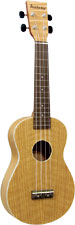 Ashbury Concert Ukulele, Flamed Oak Flame oak top, back and sides. Satin finish. Aquila strings.