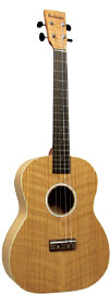 Ashbury Baritone Ukulele, Flamed Oak Flame oak top, back and sides. Satin finish..