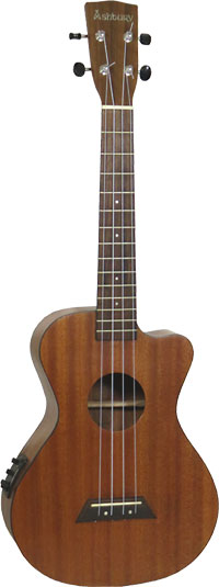 Ashbury Tenor Ukulele With Cutaway Fishman Isys Uke pick-up and EQ unti. All solid sapele top back and sides.