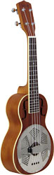 Ashbury Concert Resonator Ukulele, Wood Wooden body Concert Uke with single resonator cone..