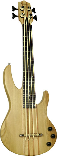 Ashbury Solid Body Electric U Bass Solid maple body with double cutaway. Thundergut uke strings