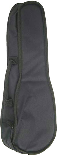 Ashbury Standard Soprano Ukulele Bag 5mm padded black nylon gig bag with shoulder strap and handle, for Soprano Uke