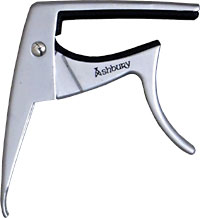 Viking Ukulele Capo, Silver Colour Silver colour uke capo. Unique design for one hand operation..