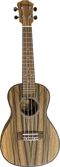 Ashbury Concert Uke, DAO Wood Matt finish. DAO wood top, back, sides. Tortoise shell style binding/rosette