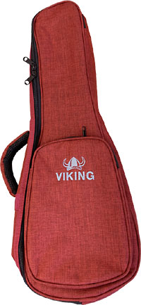 Viking Deluxe Soprano Uke Bag Dark red coloured 900 Denier nylon outer. 8mm padding.