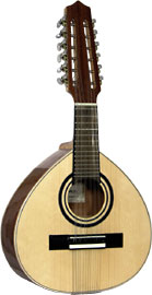 Carvalho Bandurria Solid spurce top with sapele body. 12 strings in 6 courses. Spanish folk inst.