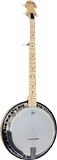 Ashbury 5 string Banjo, Electro, Maple Electro Acoustic. Maple rim and resonator, rolled brass tone ring..