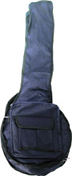 Viking Standard 5 String Banjo Bag Tough 600D black nylon outer with 5mm padding. Black lining.